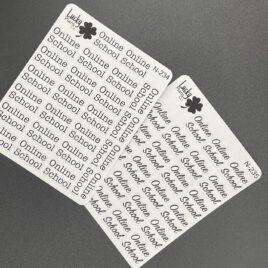 Online School stickers