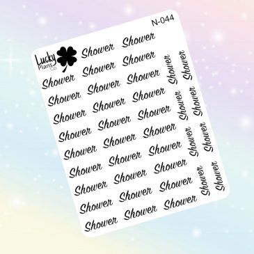 Shower stickers