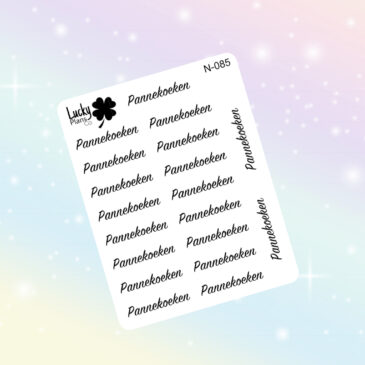 Pannekoeken stickers