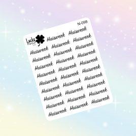 Huiswerk stickers