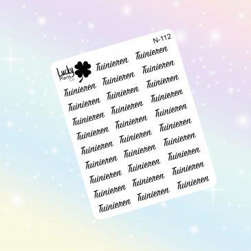 Tuinieren stickers