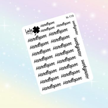Hardlopen stickers