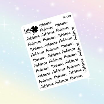 Pokémon script stickers
