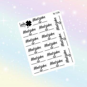 Bladzijden stickers