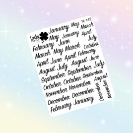 Month stickers