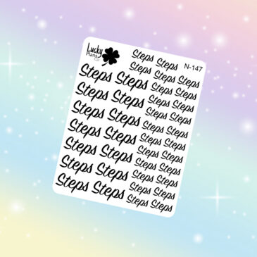 Steps stickers