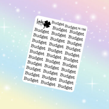 Budget stickers