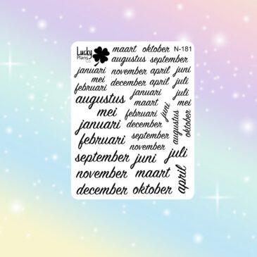 maanden stickers